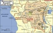 map of Congo marked smaller